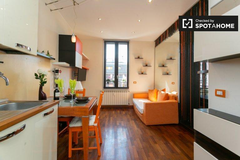 Charmantes Studio-Apartment zur Miete in Centrale, Mailand