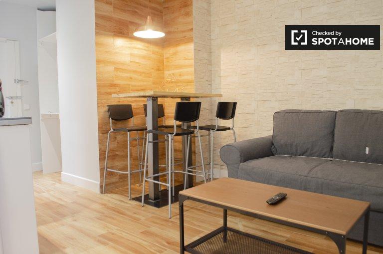 Apartamento de 1 quarto para alugar em Atocha, Madrid