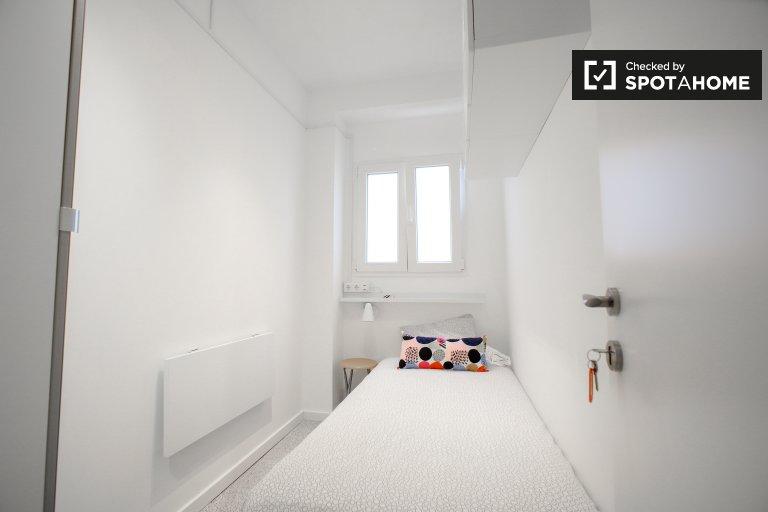 Przytulny pokój do wynajęcia, 5-pokojowe mieszkanie, Benimaclet