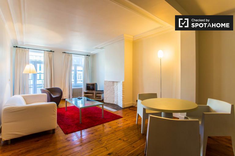 1-pokojowe mieszkanie z balkonem do wynajęcia w centrum Brukseli