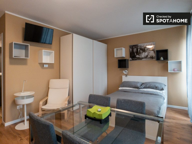 Chic studio apartment for rent in San Siro, Milan