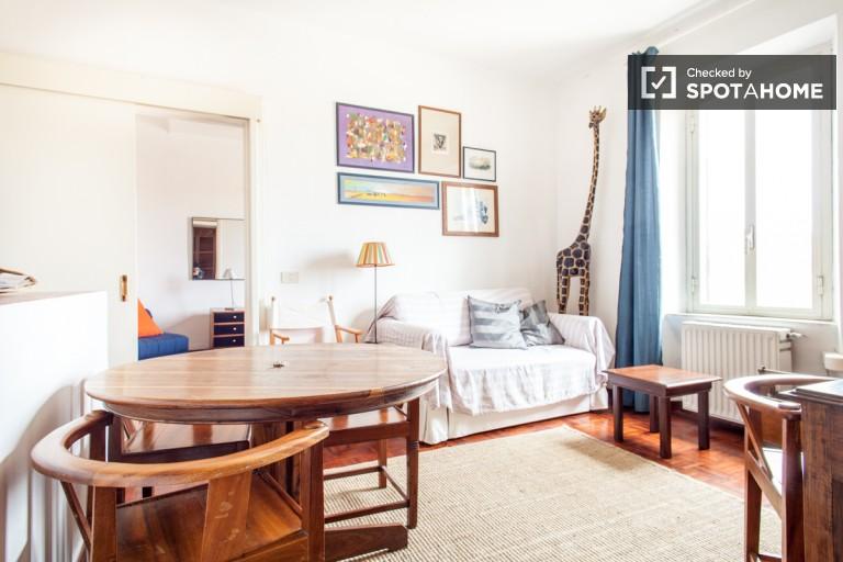 Elegant 1-bedroom apartment for rent in San Lorenzo, Rome