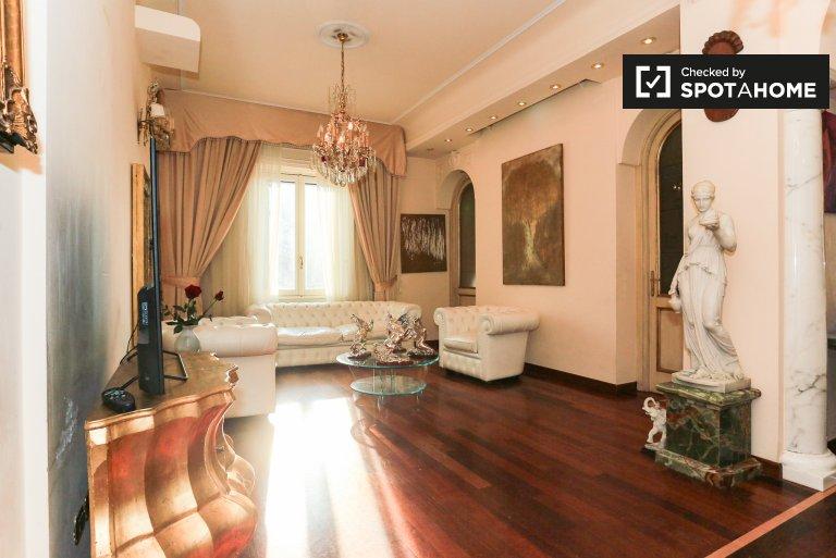 Elegante apartamento com 2 quartos para alugar em Città Studi