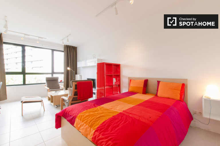 Stylish studio apartment for rent in Evere, Brussels