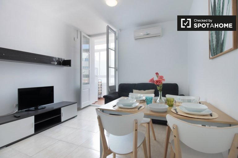 Chic 3-bedroom apartment for rent in Poblenou, Barcelona