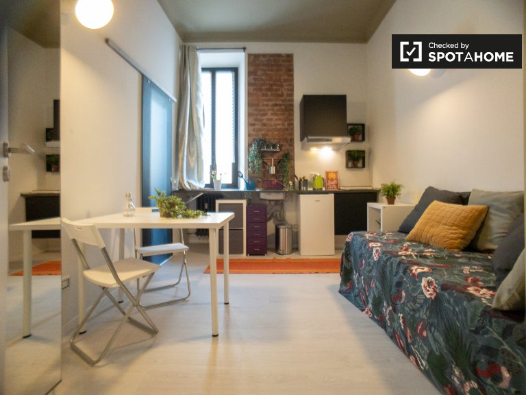 Stylish studio apartment for rent in Zona Solari, Milan