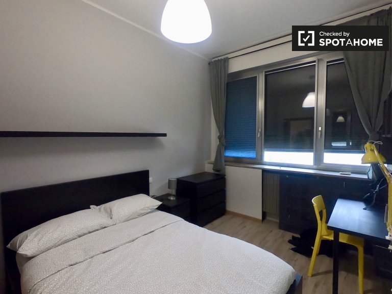 Tidy room for rent in 6-bedroom apartment in Bicocca, Milan