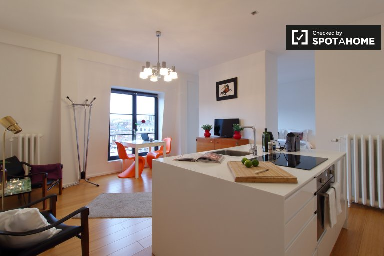 Chic Studio-Wohnung zur Miete in Ixelles, Brüssel