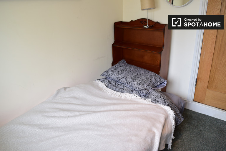 Single Bed in Room to rent in 4-bedroom house with garden in Dundrum