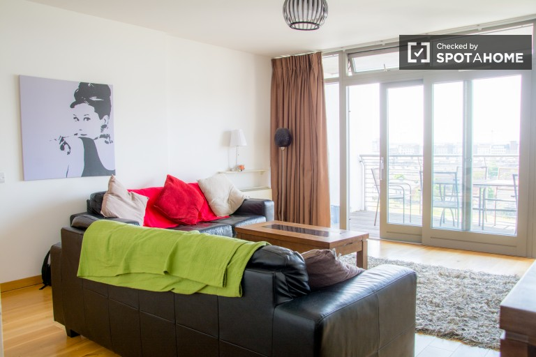 Modern 3-bedroom flat with terraces and views in East Wall