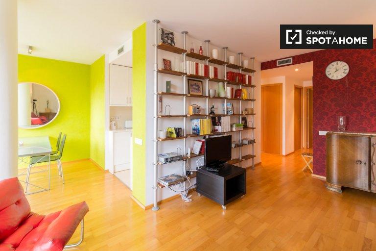 Bunte 1-Zimmer-Wohnung zur Miete in Gràcia, Barcelona