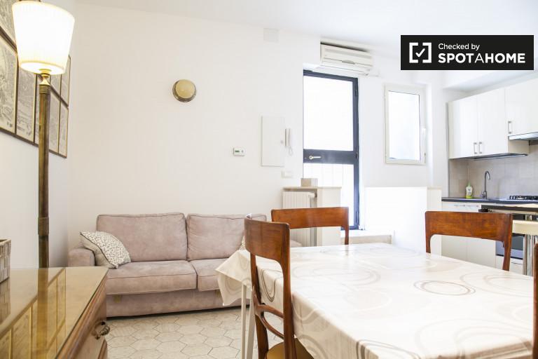 Apartamento de 1 quarto para alugar em Trieste, Roma