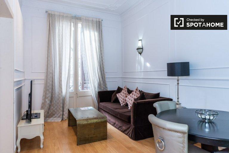 Stylowe 1-pokojowe mieszkanie do wynajęcia, Eixample Dreta