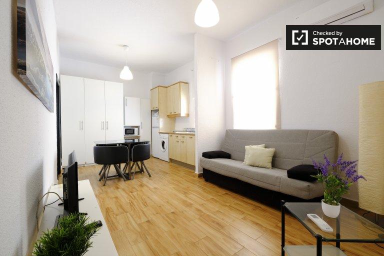 Apartamento minimalista de 1 dormitorio en alquiler en Centro, Madrid