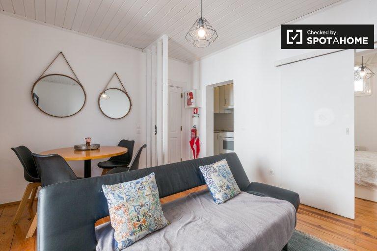 Appartamento con 1 camera da letto in affitto a Misericordia, Lisbona