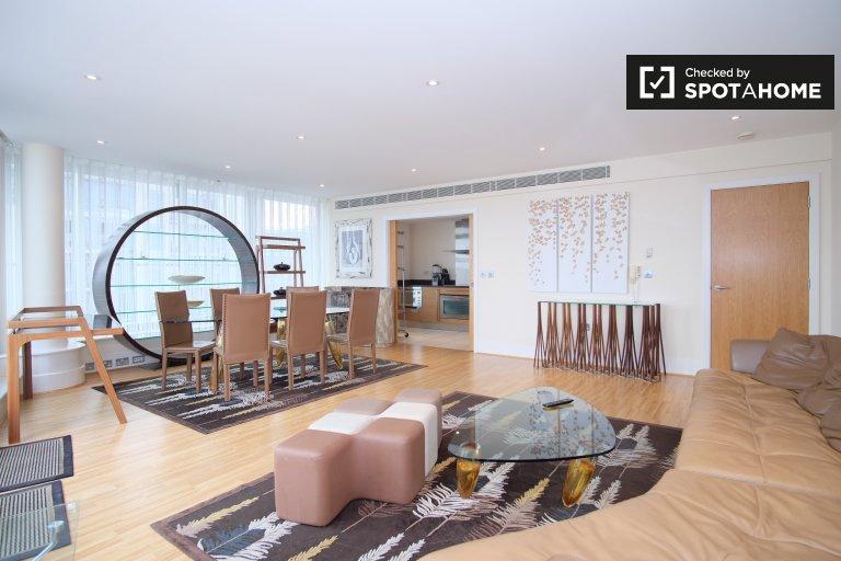 Apartamento de 3 quartos para alugar em Battersea Reach, Londres