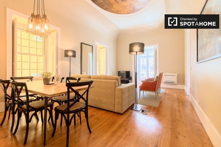 Appartamento con 2 camere da letto in affitto a Cais do Sodré, Lisbona
