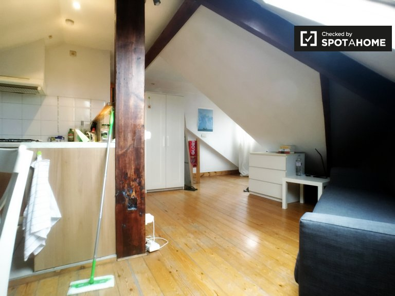 Apartamento estúdio para alugar no Bairro Europeu, Bruxelas