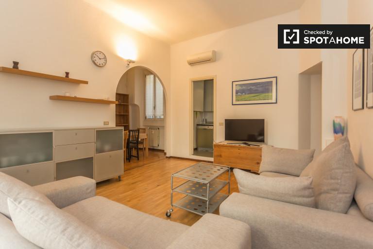 apartamento de 1 dormitorio con aire acondicionado en alquiler en Brera, Milán