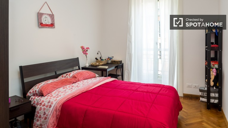 Bedroom 8 with double bed and balcony
