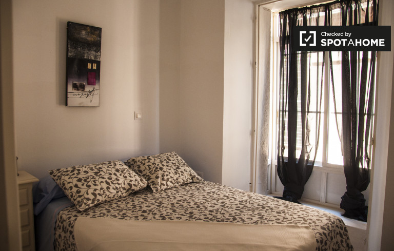 Double Bed in Rooms for rent in 2-bedroom apartment with AC in Casco Antiguo, near Las Setas