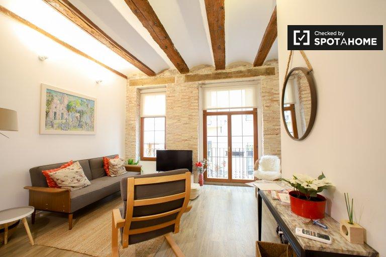 Ciutat Vella, Valencia kiralık güzel 2 yatak odalı daire