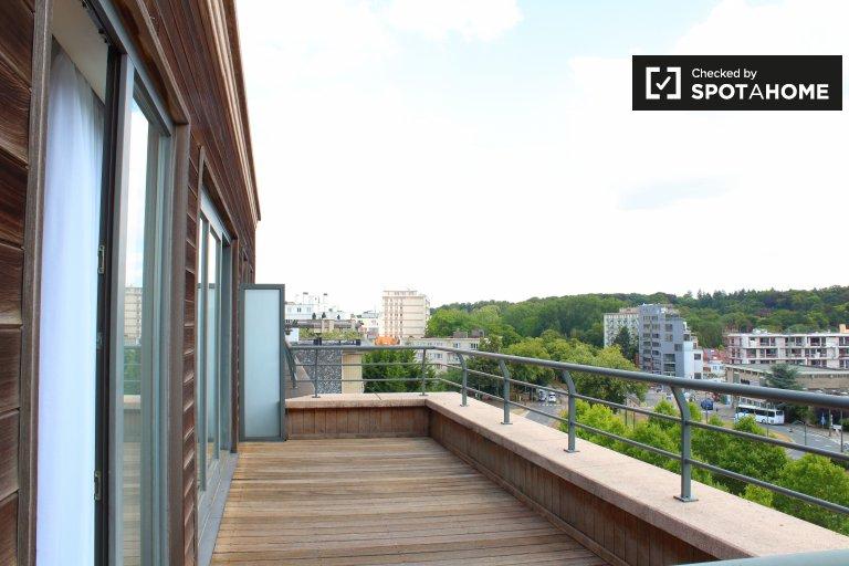 Moderne 2-Zimmer-Wohnung zur Miete in Auderghem, Brüssel