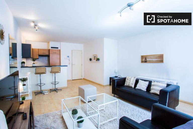 Stylowy 2-pokojowy apartament do wynajęcia w Schaerbeek, Bruksela