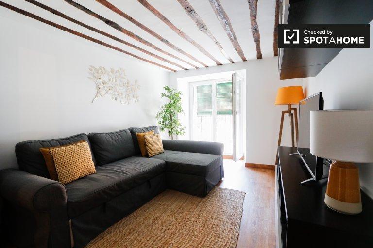 Apartamento de 2 quartos elegante para alugar em La Latina, Madrid