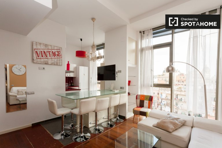 Stunning 1-bedroom apartment for rent in Barri Gòtic