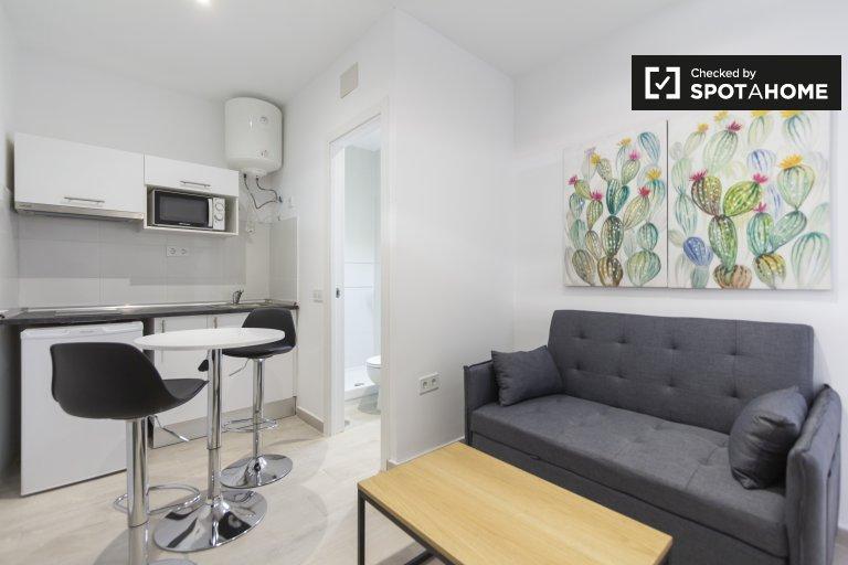 Przytulne mieszkanie z 1 sypialnią do wynajęcia w Usera w Madrycie