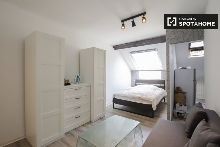 Estúdio semi-independente para alugar em Ixelles, Bruxelas