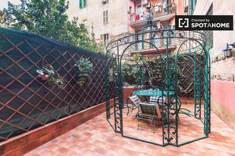 2-Zimmer-Wohnung mit Terrasse zur Miete in Prati, Rom