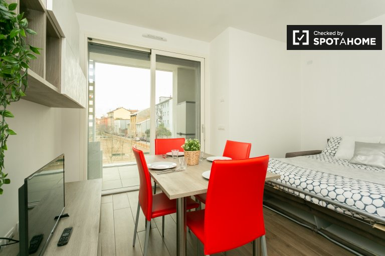 Modern 1-bedroom apartment for rent in Bovisa, Milan