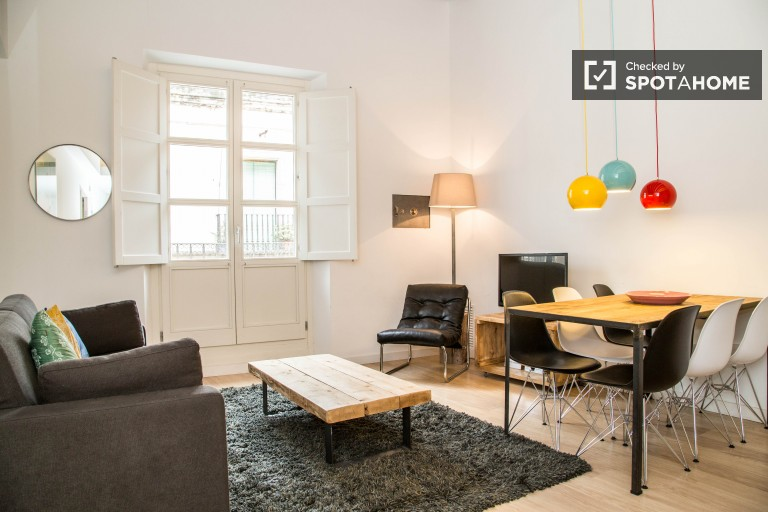 Großes 1-Zimmer-Apartment in Les Rambles, Barcelona