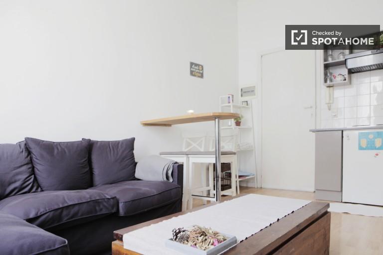 1-Bett-Apartment zu vermieten in Ixelles, in der Nähe von ULB, Brüssel