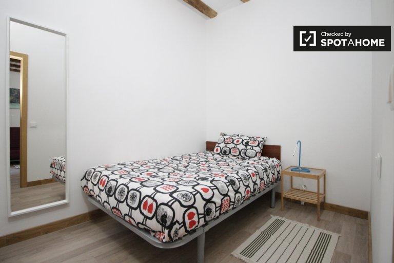 Jedna sypialnia do wynajęcia w 2-łóżkowym apartamencie, El Born, Barça