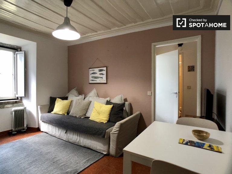 Misericórdia, Lizbon kiralık sevimli 1 yatak odalı daire