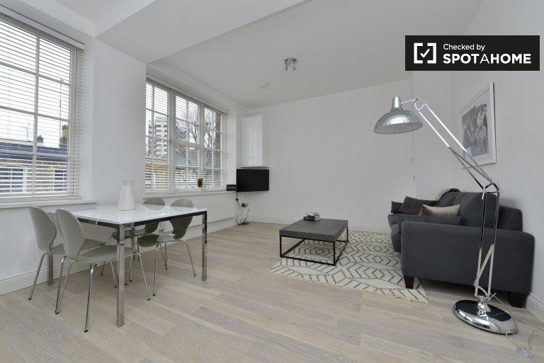 Eleganckie mieszkanie z jedną sypialnią do wynajęcia w Camden w Londynie