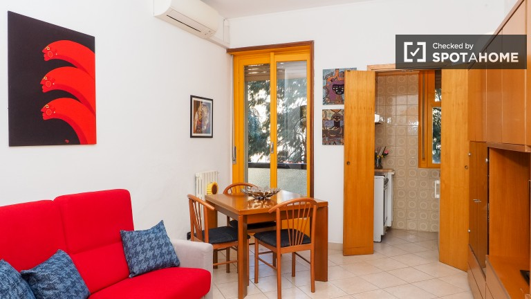 Comfortable 1 bedroom apartment with AC and washing machine in San Siro