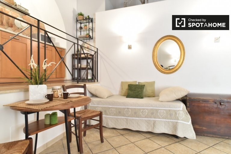 Beautiful studio apartment for rent in Trastevere