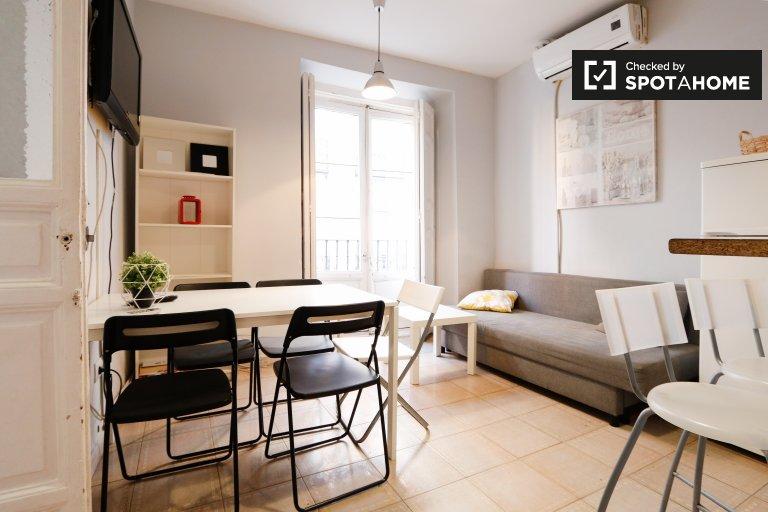 Centro, Madrid'de kiralık modern 4 yatak odalı daire