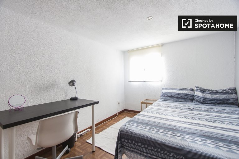 Chambre double à louer, appartement de 4 chambres, Lavapiés, Madrid