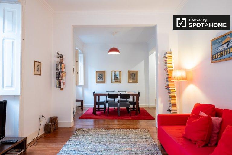 Appartamento centrale con 3 camere da letto in affitto a Bairro Alto, Lisbona