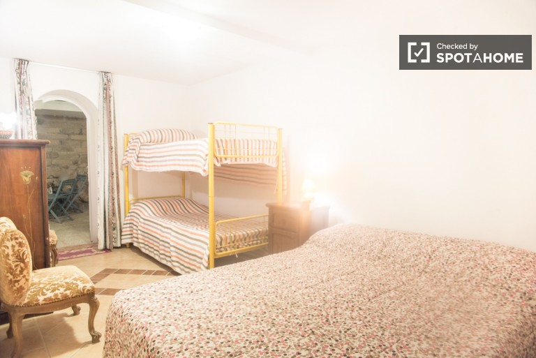 Bedroom 3- Bunk bed and double bed