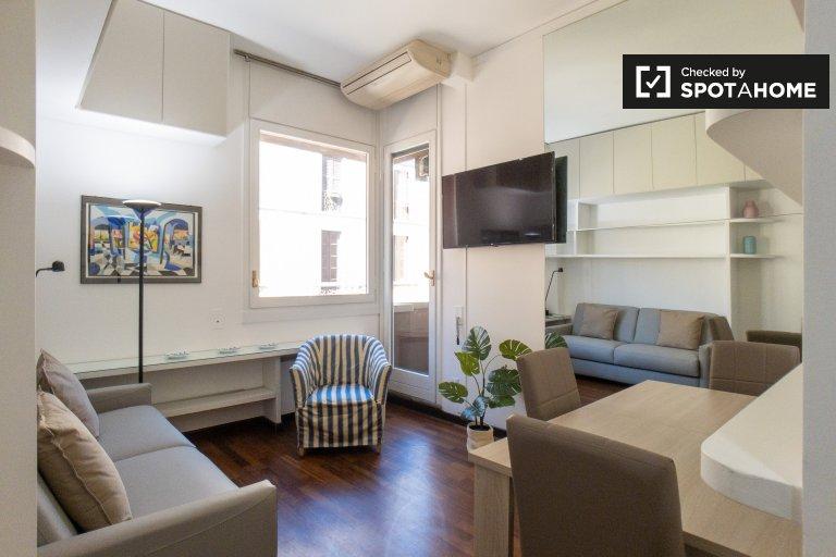Apartamento de 1 quarto para alugar em Brera, Milão