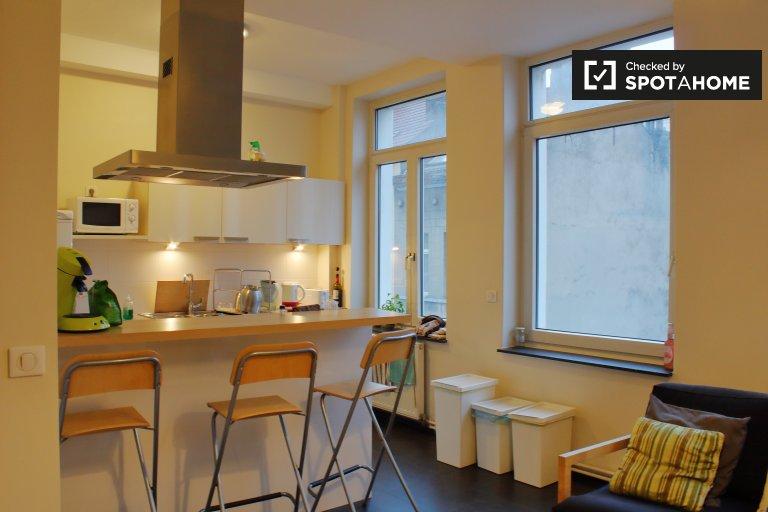 Möbliertes Zimmer in 3-Zimmer-Wohnung in Ixelles, Brüssel