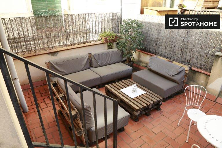 Przestronny apartament z 1 sypialnią do wynajęcia w El Raval