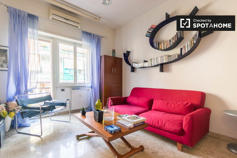 Cosy 1-bedroom apartment for rent in Portuense, Rome