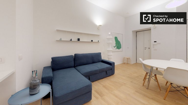Contemporary 1-bedroom apartment for rent in Historic center